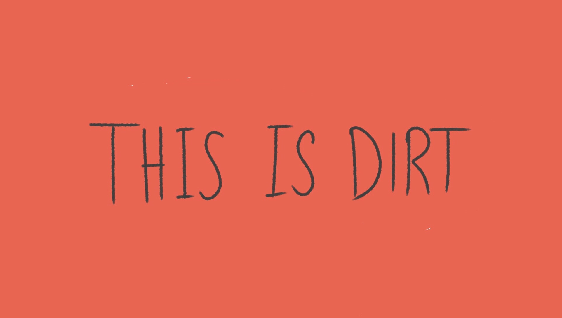 "Orange dirt with the caption ""this is dirt""."